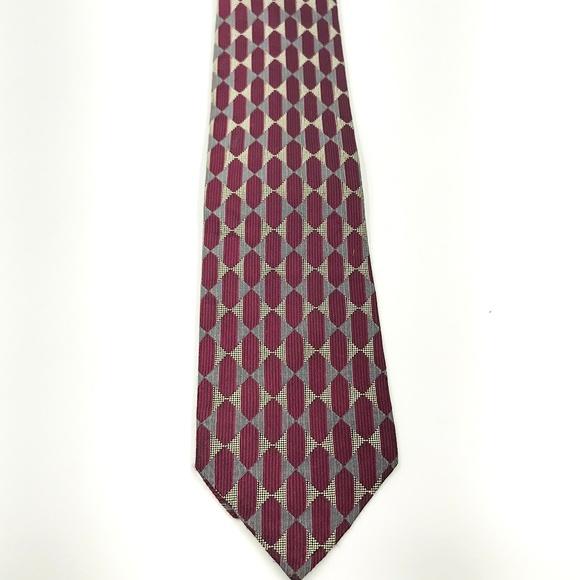 89c9c3035412 Jos. A. Bank Accessories | Jos A Bank Red Silver Geometric Silk ...